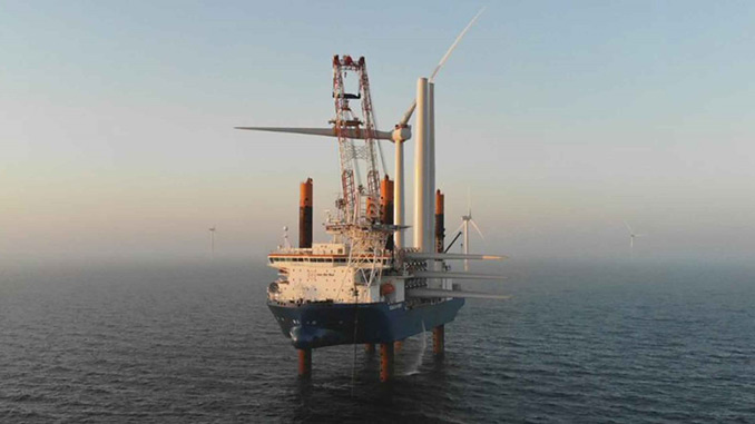 Kriegers Flak: The 72 wind turbines each have a total height of 188 metres, and each foundation weighs up to 800 tonnes