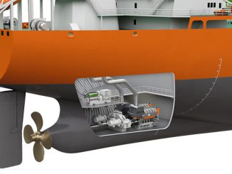 The new design requires a single engine for both propulsion and electric power generation
