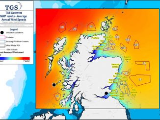 The TGS Wind Energy Model covers a large area around the current ScotWind lease blocks providing additional insight into this regions' wind energy potential