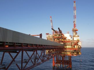 North Everest is a combined wellhead/production/quarters platform, producing gas and condensate from the North Everest field