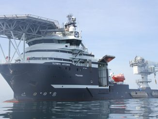 'Olympic Artemis' will be the first Olympic Subsea ship to deploy Kongsberg Digital's Vessel Insight and Vessel Performance data infrastructure and performance monitoring solutions