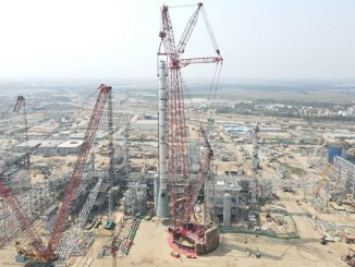 Mammoet's PT 50 ring crane successfully lifted all three modules each as a single-piece and each from a single lift position. These actions resulted in time and cost efficiencies for the client and minimal use of on-site space without compromising on safety
