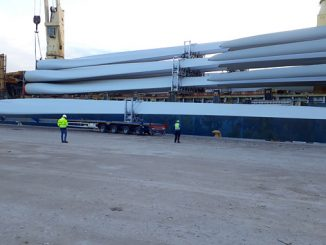Nacelles, hubs and blades – ranging in weight up to 105 tonnes and with a length of up to 63 metres – were received at the ports of Coega (Port of Ngqura) and Saldanha, and then transported to temporary laydown areas nearby