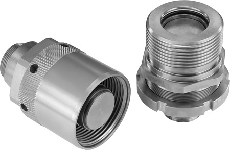 The construction of the STAUFF QRC-RH screw-to-connect couplings is designed to withstand very high static and dynamic pressure loads in an uncoupled state as well