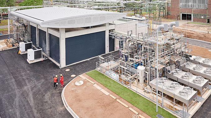Europe's largest PEM hydrogen electrolyser at Shell's Energy and Chemicals Park Rheinland
