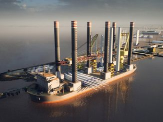 Renewables Hub: Forth Ports Leith outer berth with wind installation vessel