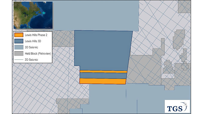 TGS and PGS Lewis Hills 3D Multi-client Phase 2 Offshore East Canada