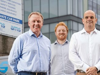 From left, AMS Global founders, Gary Bruce and Neil Carr, with and Graeme Reid, Director