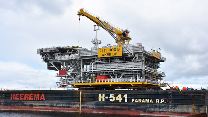Topside begins its journey to Aker BP's North Sea Hod field