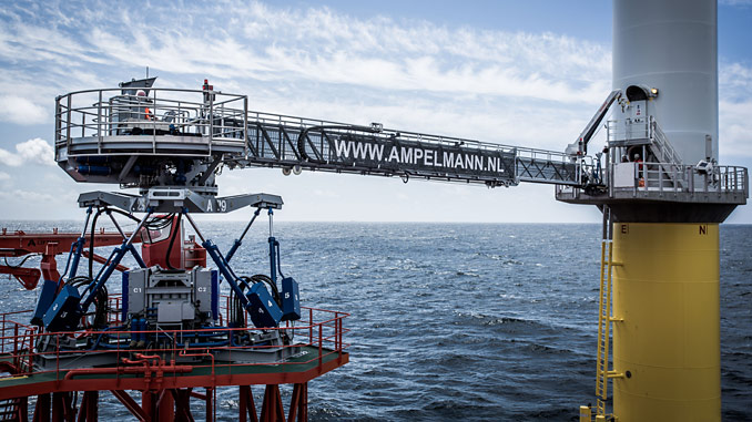 The A-type gangway system features an advanced motion compensation control system with precision controls to enable fast landing and comfortable people transfers