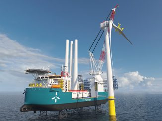 The Wind Turbine Installation Vessel (WITV) which will be built to support projects off the east coast of the US