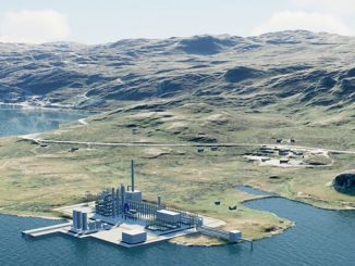 Rendering of the ammonia production facilities in Hamerfest