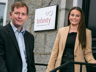Finalists – Simon Cowie, managing partner at Infinity Partnership, and Chloe Leslie, senior accounts associate at Infinity Partnership