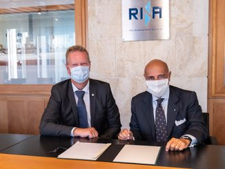 From left, Lars Riisberg, CEO at Logimatic Solutions, and Ugo Salerno, CEO of RINA