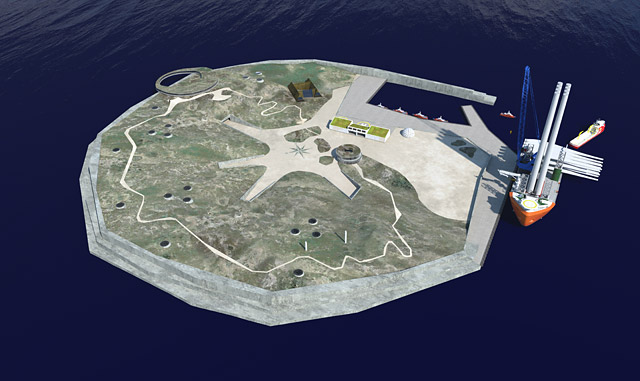 The island could either be realised in phases or in one go
