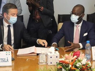 From left: Nicolas Mathon, Director, Project Development, Africa and Europe, Wärtsilä Energy, and Managing Director, Orinko S.A and Akim Daouda, CEO of Sovereign Fund of the Gabonese Republic