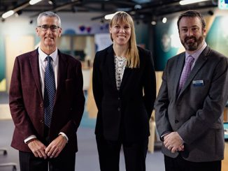 From left, Sandy Morton, chair of the board of trustees at Aberdeen Science Centre; Professor Catherine Heymans, Astronomer Royal for Scotland; and Bryan Snelling, chief executive of Aberdeen Science Centre