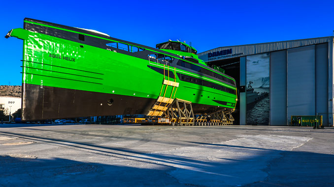 Developed by Damen Shipyards, the FCS 7011 will be used in the renewable energy and oil and gas industries to transport personnel and light cargo to and from offshore locations