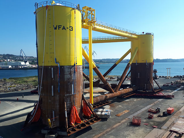 Mammoet performing a load-out for WindFloat Atlantic