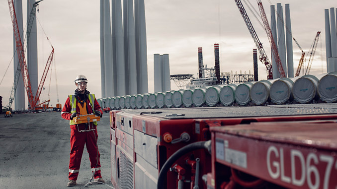 Mammoet working to marshal offshore wind components