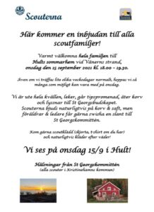 Scout startar för terminen @ Hults Sommarhem | Värmlands län | Sverige