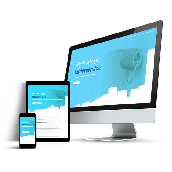 webdesign av nettside oyvind rygg