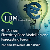 4th Annual Electricity Price Modelling and Forecasting Forum 2nd and 3rd March 2017, Berlin
