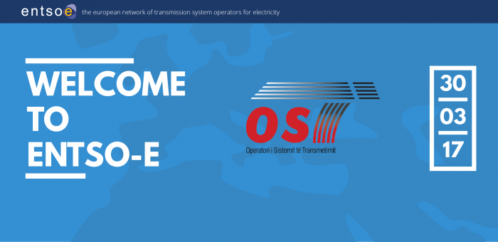 New member joins ENTSO-E: OST from Albania, ENTSO-E, Brussels, 31/03/2017