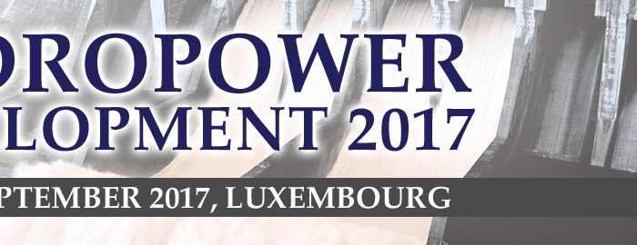 Hydropower Development 2017 Conference on 13-14 September, Luxembourg