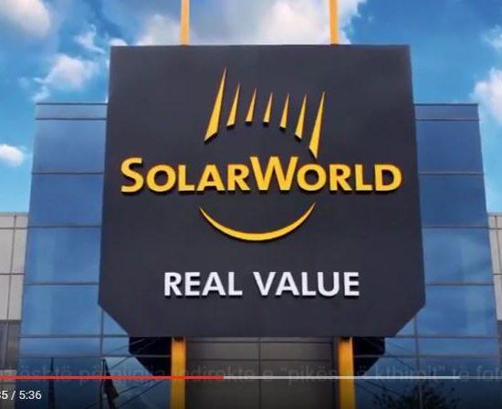 SolarWorld USA: Historia e energjisë diellore by EuroElektra Sh.p.k