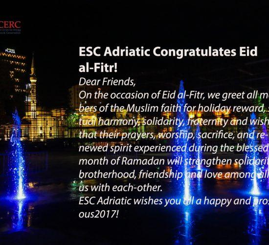 ESC Adriatic Congratulates Eid al-Fitr! Urime për Festen e Fitër Bajramit! 25th June 2017