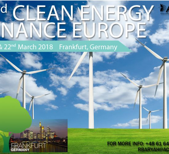 Clean Energy Finance Europe 2018, Frankfurt, Germany