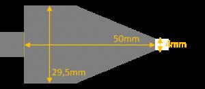 Dimensions du grattoir pour entretenir le gaufrier