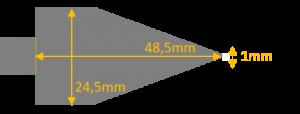 Dimensions grattoir fin pour gaufrier