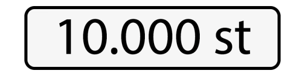 10000 st