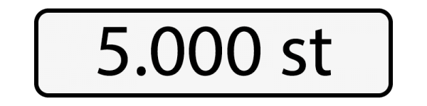 5000 st