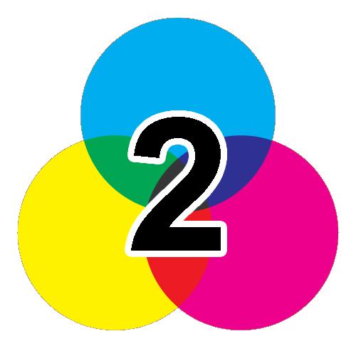 2-färgtryck