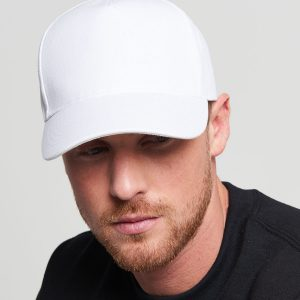 BC015 Ultimate 5 panel Cap White 01