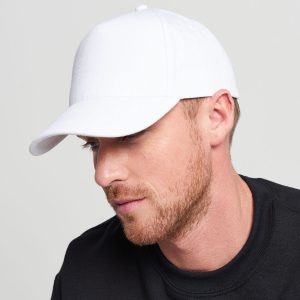 BC015 Ultimate 5 panel Cap White 02