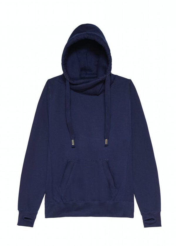 JH021 Crossover Neck Hoodie - Oxford Navy