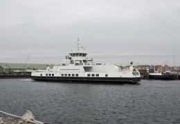 Isefjord som er ankommet til Hundested 14. april 2013