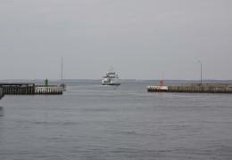 Isefjord på vej ud på sin Jomfrurejse 17. maj 2013