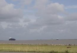 Sluserne ved Brunsbüttel set fra Elben 8. august 2013