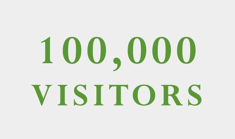 100,000 visitors