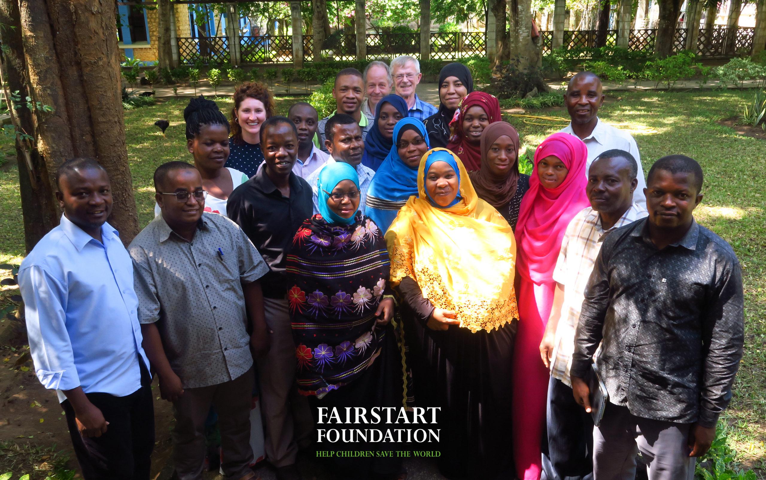 New instructor class at SOS Children's Villages in Zanzibar