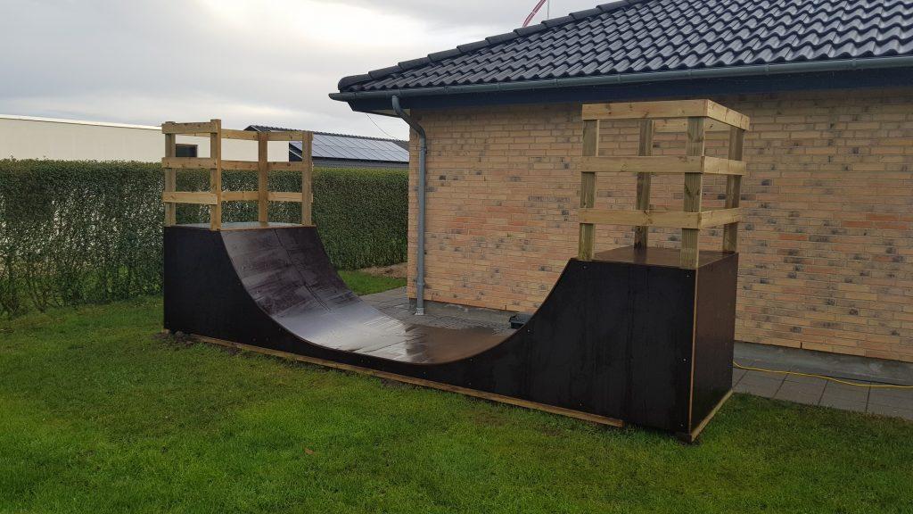 Skaterrampe (U-rampe) hjemmebygget