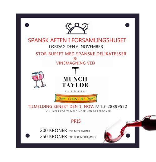 Spansk gourmet aften med vinsmagning