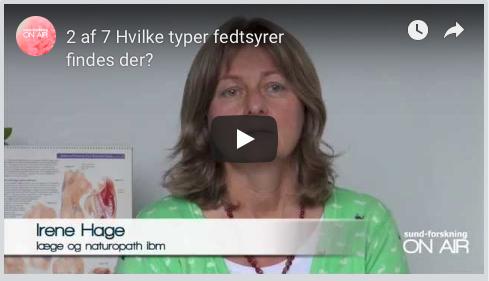Irene Hage - Om hvilke fedtsyrer findes der