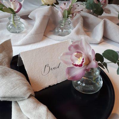 kleine vaasjes huren bruiloft helder glas 1 bloem vaasjes