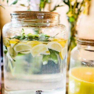 huur limonadekan glas kurken dop bruiloft fruittab tab huren